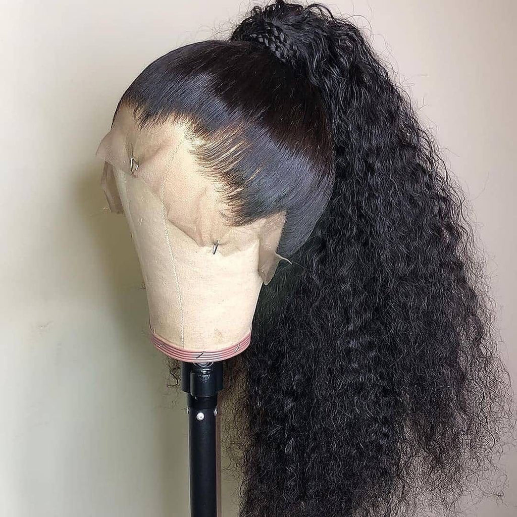 Fake Scalp 360 Deep Curly Human Hair Wigs | 100% Lace Front Wigs