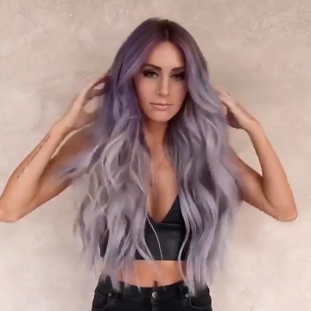 Light Purple Lace Front Wig | 100% Lace Front Wig - Maxky Design