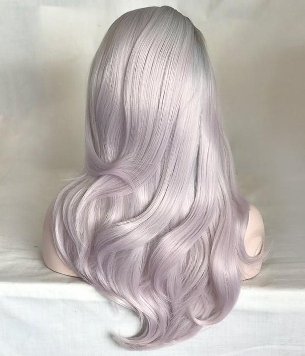 Lilac Mist & Light Purple Lace Front Wig | 100% Lace Front Wig - Maxky Design