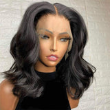 Fake Scalp 360 Human Hair Fishline Bleached Knots Wigs Body Wave Style | 100% Lace Front Wigs