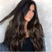 Brownish Black Hair Lace Front Wig | 100% Lace Front Wig - Maxky Design
