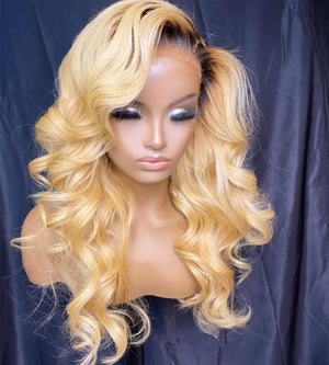 Honey Blonde Hair Lace Front Human Hair Wig Loose Wave | 100% Lace Front Wigs