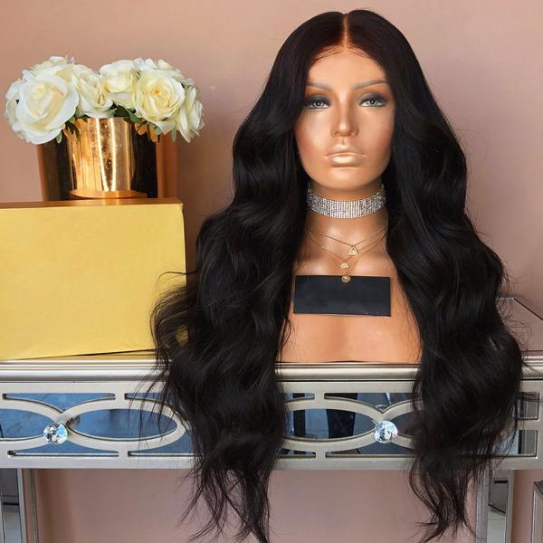 KINGKYLIE Black Lace Front Wig | 100% Lace Front Wig - Maxky Design