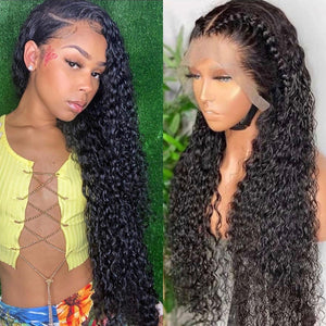 Full Lace Human Hair Wig Natural Black Color Curly Style | 100% Lace Front Wigs