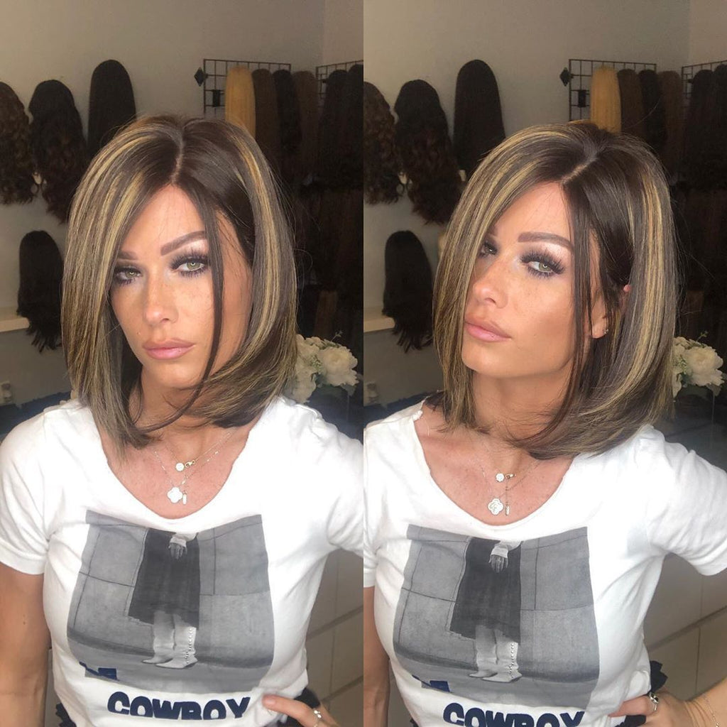 Beautiful Short Lace Front Wig | 100% Lace Front Wig - Maxky Design