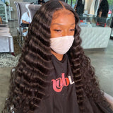 HD Swiss Lace +Pre-Plucked 5x5 Lace Closure Human Hair Wig Deep Body Wave | 100% Lace Front Wigs