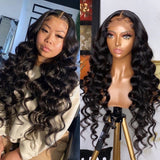 HD Swiss Lace 5x5 Lace Closure Wig Loose Wave Style | 100% Lace Front Wigs