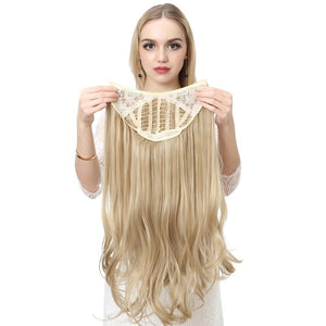 Extension Clip In Long Thick Curly Natural Blonde Wig