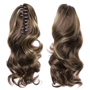 Wavy Claw Clip in/on Ponytail Hair Extensions