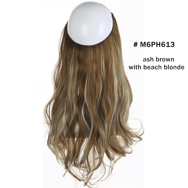 Wave Hair Extensions Invisible Ombre Natural Wigs