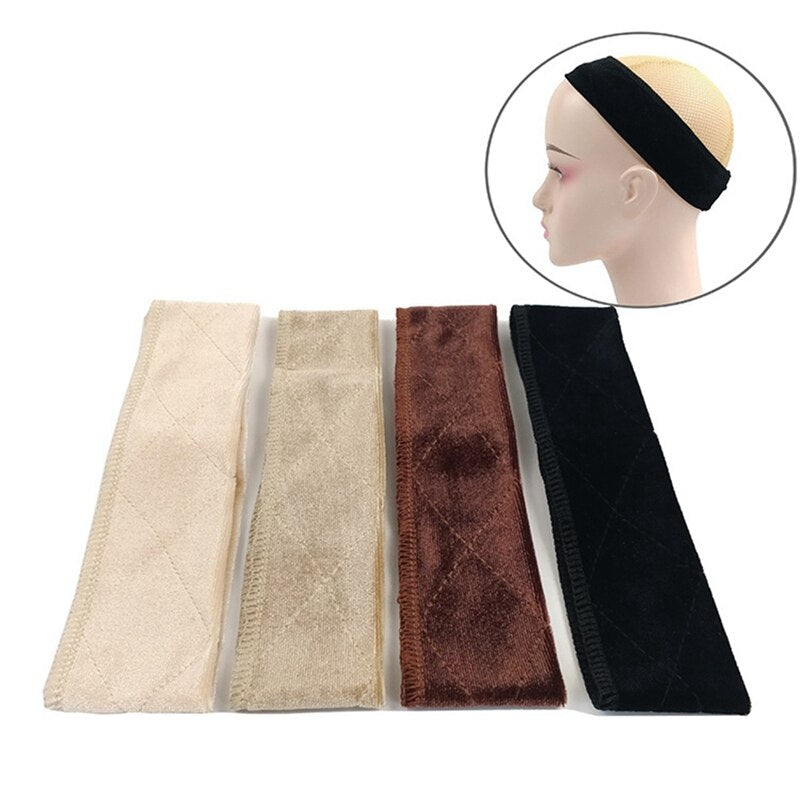 Adjustable  Flexible Velvet Wig Grip Scarf Comfort Head Band Adjustable - Maxky Design