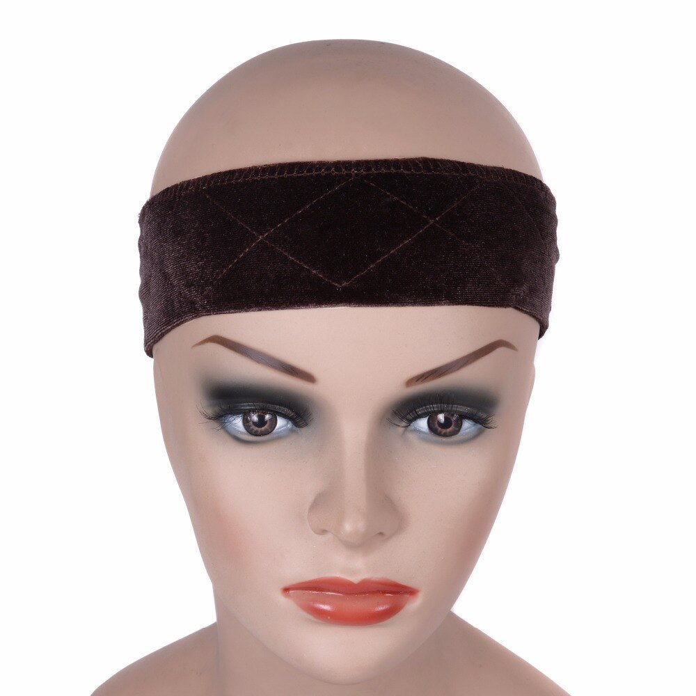 Adjustable  Flexible Velvet Wig Grip Scarf Comfort Head Band - Maxky Design