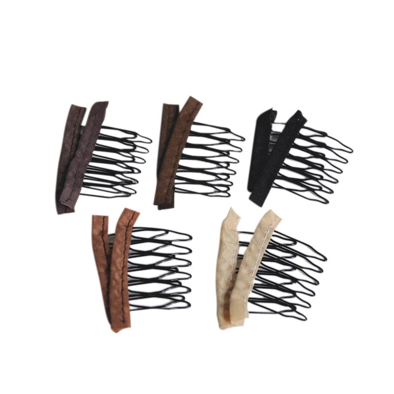 30pcs/bag 6 Tooth Wig Combs Clips For Lace Wig Caps Styling Tools Wig Accessories - Maxky Design