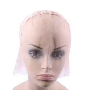 1Pc Beige Full Lace Wig Cap Base For Making Full Hand Made Wigs With Adjustable Straps Glueless Weaving Cap Customize Hairnets - Maxky Design
