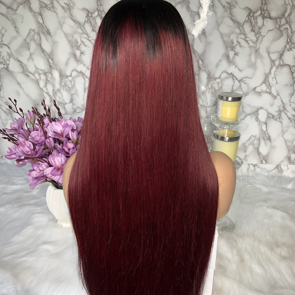 Lace Front Wig 100% Human Hair Full Lace Wig Pre Plucked Baby Hair Around | 100% Lace Front Wigs