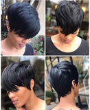 Pre Plucked Short Bob Wig 13*6 Lace Front Human Hair Lace Wig ,Natural Black Color & Blond Color | 100% Lace Front Wigs