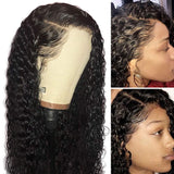 Lace Front Wig Human Hair Wig Full Lace Wig Pre plucked Bleached Knots,Deep Curly | 100% Lace Front Wigs
