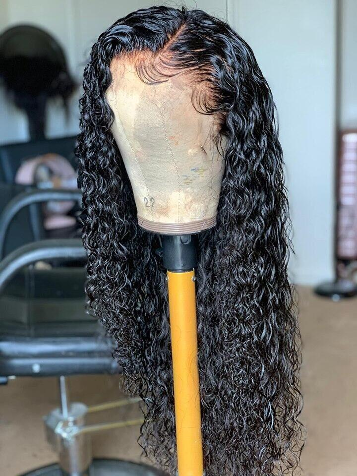 Preplucked Virgin Human Hair Lace Wig ,Water Wave | 100% Lace Front Wigs