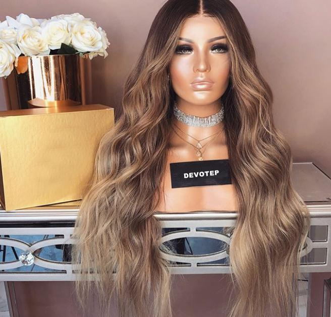 Brown Gradation Lace Front Wig | 100% Lace Front Wig - Maxky Design