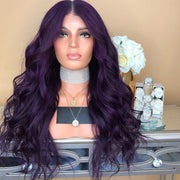 100% Lace Front Wig | DEEP PURPLE Wig - Maxky Design