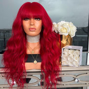 100% Lace Front Wig | VIBRANT RED WIG - Maxky Design