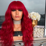 VIBRANT RED LACE FRONT WIG | 100% Lace Front Wig - Maxky Design