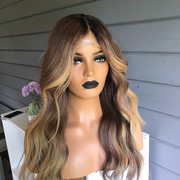 100% Lace Front Wig | Golden Brown Wig - Maxky Design