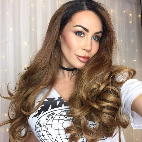 Caramel Curls Lace Front Wig | 100% Lace Front Wig - Maxky Design