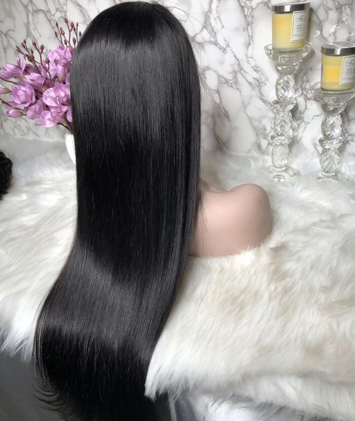 Angela Fake Scalp Frontal Lace Wig Undetectable Glueless Lace Pre_Plucked Natural Hairline | 100% Lace Front Wigs