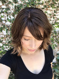 [HOT] Black Brown Short Curly Lace Front Wig | 100% Lace Front Wig - Maxky Design