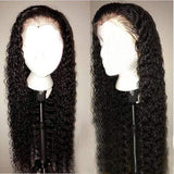Deep Part Lace Front Preplucked Virgin Human Hair Lace Wig Curly | 100% Lace Front Wigs