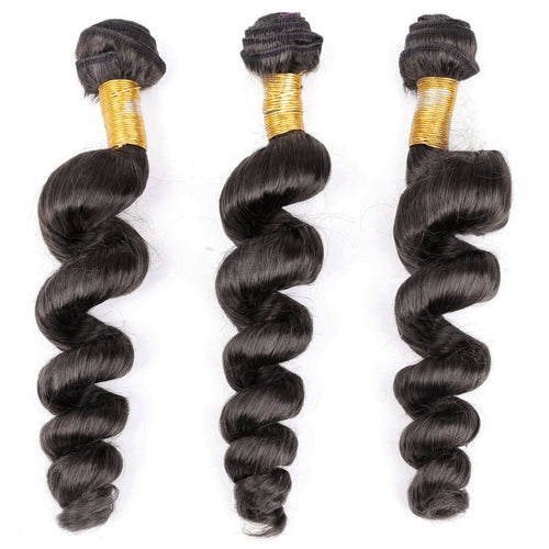 South Africa Fashion 100% Brazilian Human Hair Wefts Bresilienne Loose Curl Wave Wigs