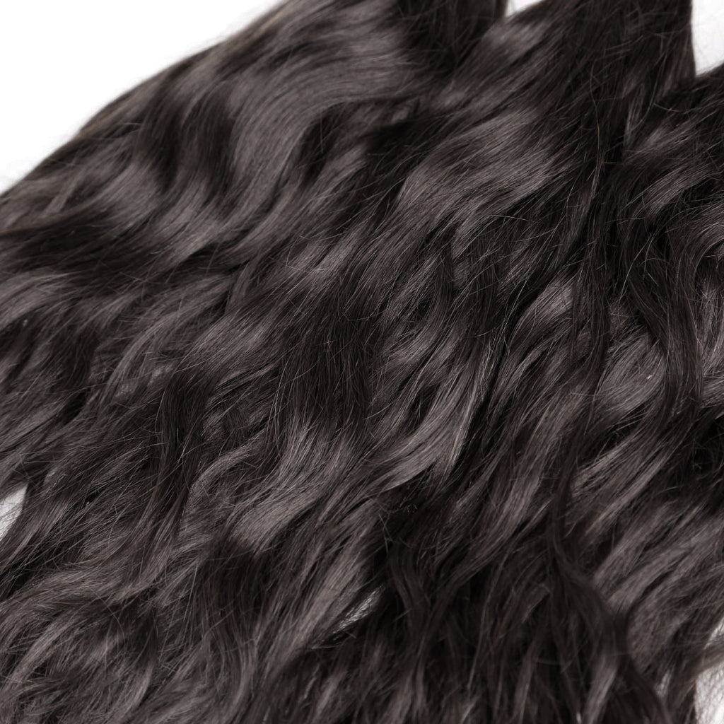 100% Brazilian Human Hair Wefts Natural Wave wigs - Maxky Design