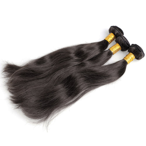 100% Brazilian Human Hair Wefts  Bresilienne straight silky wave