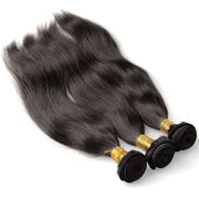 100% Brazilian Human Hair Wefts  Bresilienne straight silky wave - Maxky Design