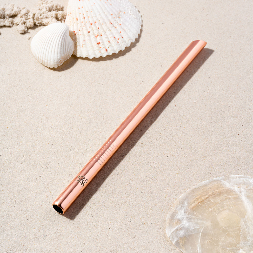 Rose Gold Stainless Steel Boba Straw