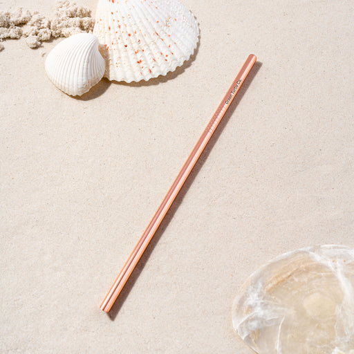 Rose Gold Stainless Steel Regular Straw