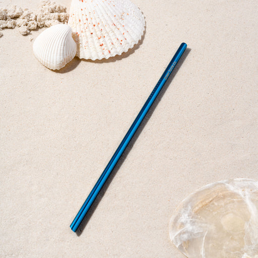 Blue Stainless Steel Regular Straw