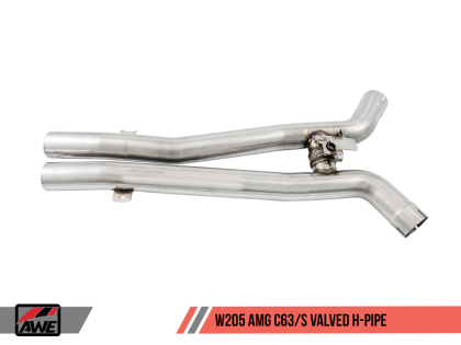 AWE Track Edition Exhaust System for Mercedes-Benz W205 AMG C63/S Sedan (no tips)