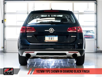 AWE Tuning VW MK7 Golf Alltrack/Sportwagen 4Motion Touring Edition Exhaust - Diamond Black Tips