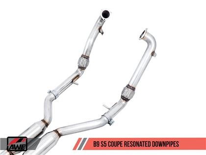 AWE Touring Edition Exhaust for Audi B9 S5 Coupe - Chrome Silver 102mm Tips