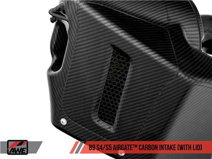 AWE AirGate™ Carbon Fiber Intake for Audi B9 S4 / S5 3.0T - With Lid