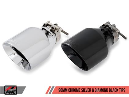 AWE Track Edition Exhaust for Audi B9 S4 - Non-Resonated - Chrome Silver 90mm Tips