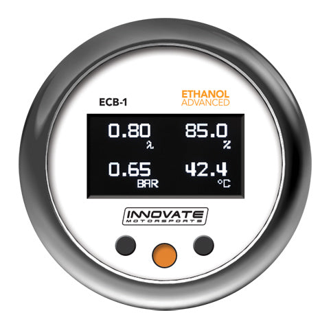 ECB-1: (BOOST) Ethanol Content, Boost, & Wideband Air/Fuel Ratio OLED Gauge (Four-in-one)