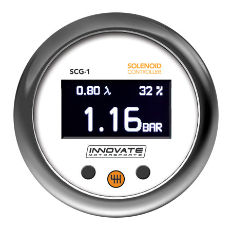 SCG-1: Solenoid Boost Controller, Wideband Air/Fuel Ratio, & Shift Light OLED Gauge (All-in-one)