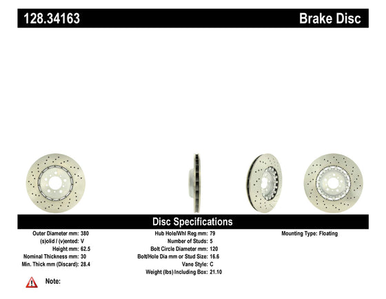 OE & Aftermarket BMW M2, M3, M4 FRONT Brake Rotors