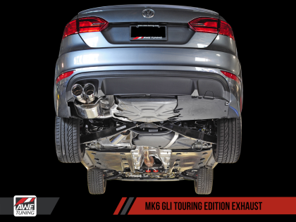 AWE Touring Edition Exhaust for MK6 GLI 2.0T - MK6 Jetta 1.8T - Polished Silver Tips