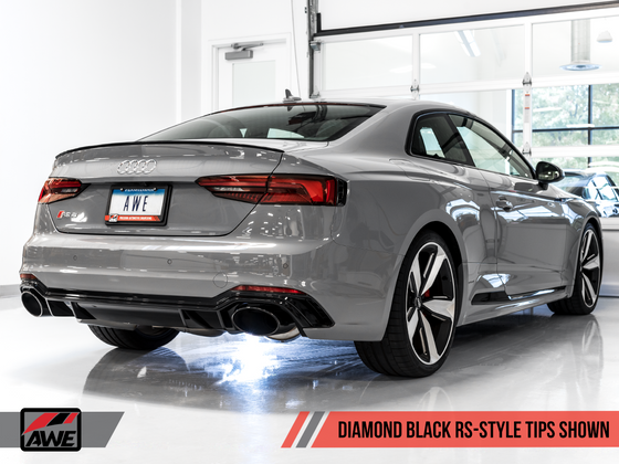 AWE Tuning Audi B9 RS5 Track Edition Exhaust w/ Diamond Black RS Tips
