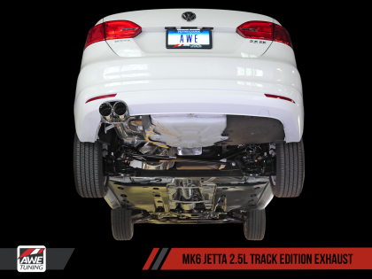 AWE Track Edition Exhaust for MK6 Jetta 2.5L - Diamond Black Tips