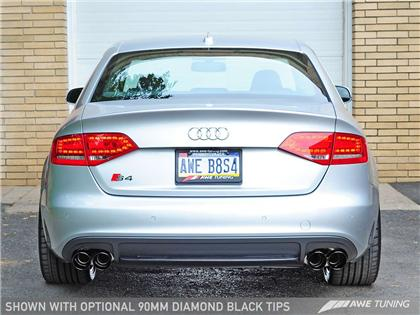 AWE Touring Edition Exhaust for Audi B8 S4 3.0T - Diamond Black Tips (90mm)